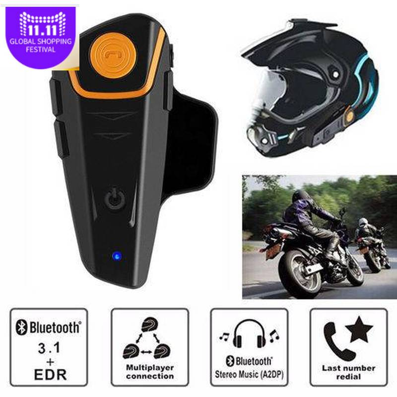 BTS2 1000m Bluetooth Headset Motorrad Helm Kopfhörer Lautsprecher Hände-freie Musik Smart Intercom AutoAnswer FM Wireless Intercom