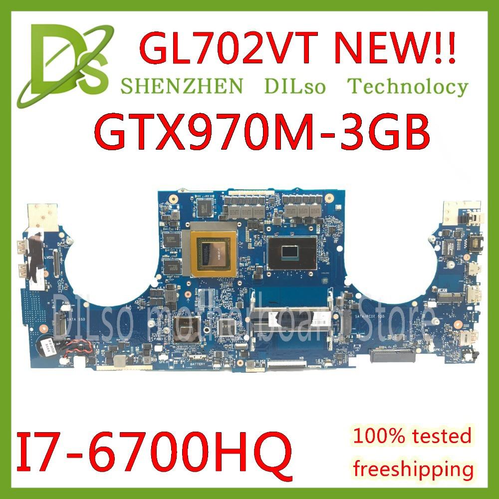 KEFU GL702VT para ASUS GL702VT GL702 placa base I7-6700HQ N16E-GT-A1 GTX970M-3GB placa base de computadora portátil de trabajo original 100%