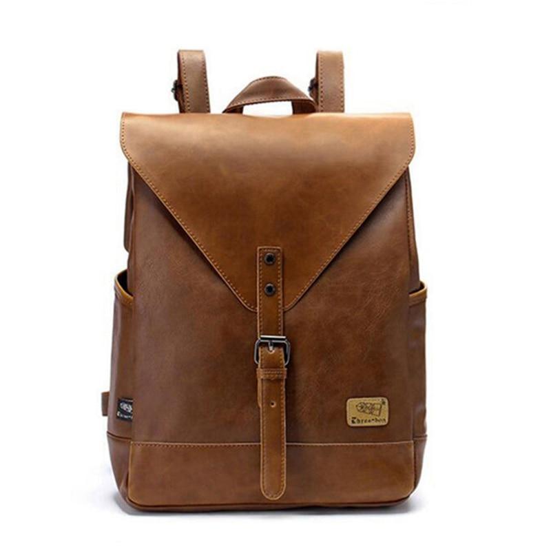 2018 nueva mochila de moda para hombres y mujeres, mochila de viaje, mochila escolar para hombres, bolso de negocios de cuero para hombres, bolsa grande de viaje para compras de portátiles