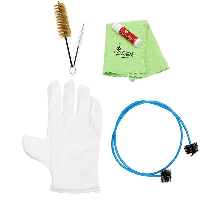ABLD-SLADE инструмент труба тромбоновая туба Рог Набор для очистки набор инструментов с салфеткой для очистки кисти перчатки