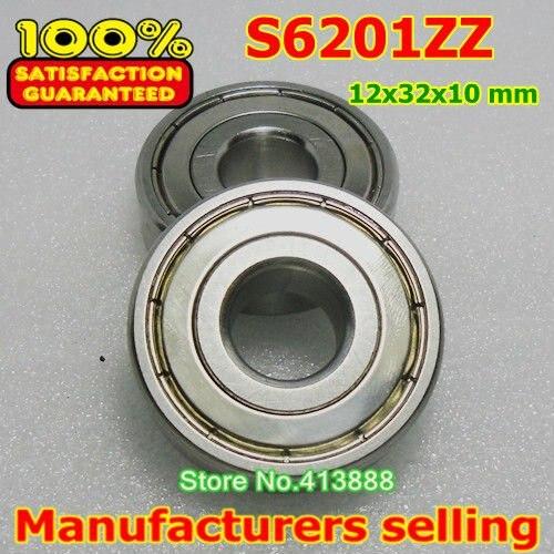 (1 pces) sus440c ambiental resistente à corrosão de aço inoxidável rolamentos rígidos de esferas s6201zz 12*32*10mm