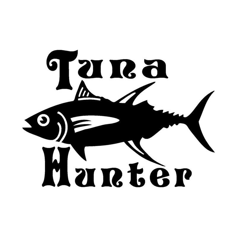 35 см Охотник на тунца Рыбалка Животное Декор Наклейка на машину, мотоцикл