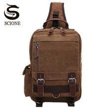 Scione High Quality Men Chest Bag Casual Travel Handbag Messenger Bags Women Female Crossbody Shoulder Bag Small bolsas mujer