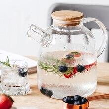 Théière en verre Borosilicate Transparent 1/1 l   Grande théière résistant à la chaleur, grande théière à thé transparente, service à thé, bouilloire Puer, outil pour la maison au bureau