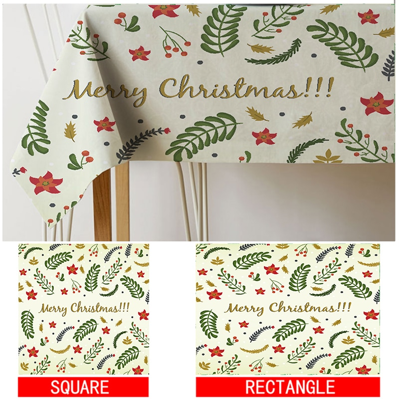 tablecloth Watercolor Plant leaves christmas printing table cloth toalha de mesa nappe decoracao para casa manteles table cover