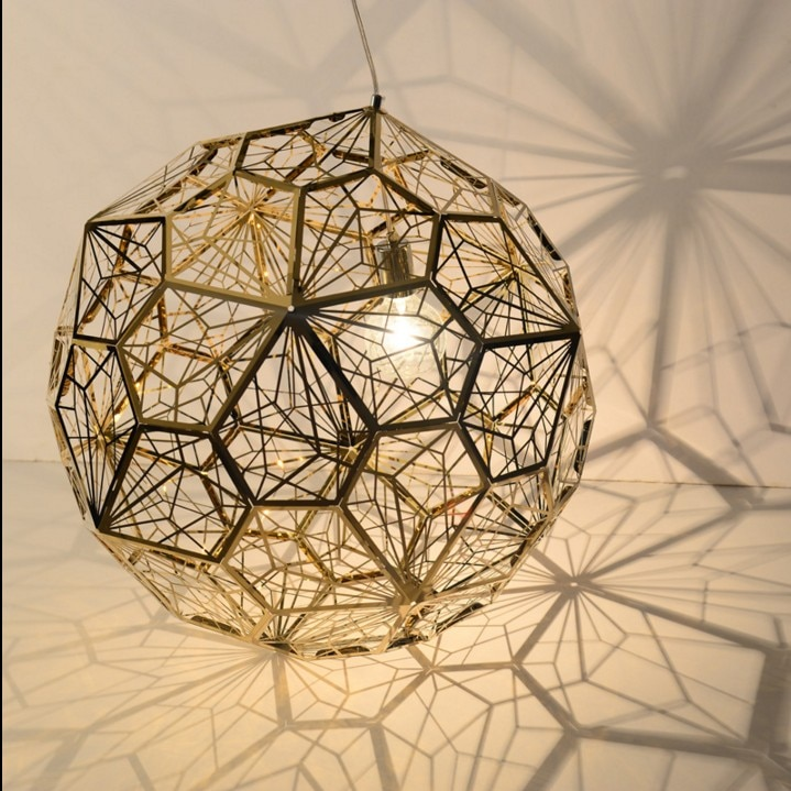 Loja de roupas personalidade criativa quarto restaurante bar escadas pós-moderna polígono geométrica diamante bola lâmpadas penduradas