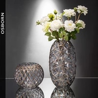 creative hydroponic glass vase home decoration dried flowers american transparent vase living room retro flower ornaments