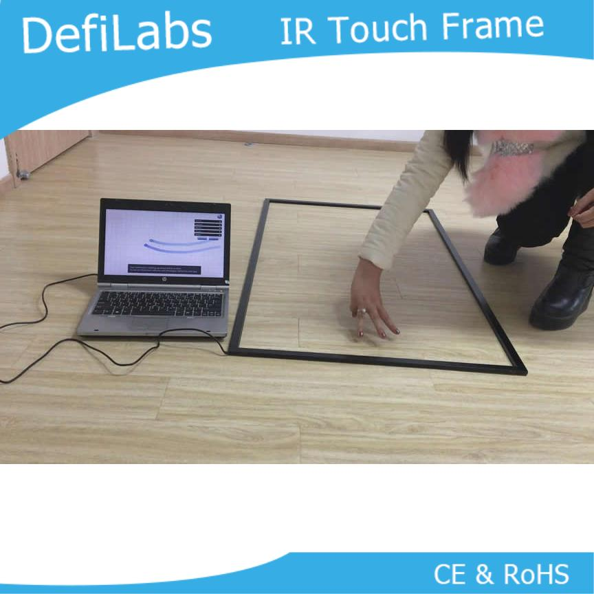 DefiLabs 55 pulgadas IR Marco de pantalla táctil sin vidrio-10 puntos de envío rápido