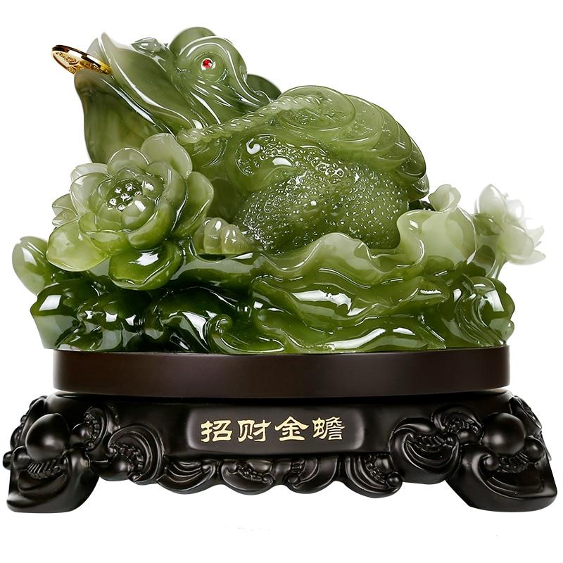 Envío Gratis toad de oro artículos de decoración de tres pies de la suerte y regalos de decoración del hogar