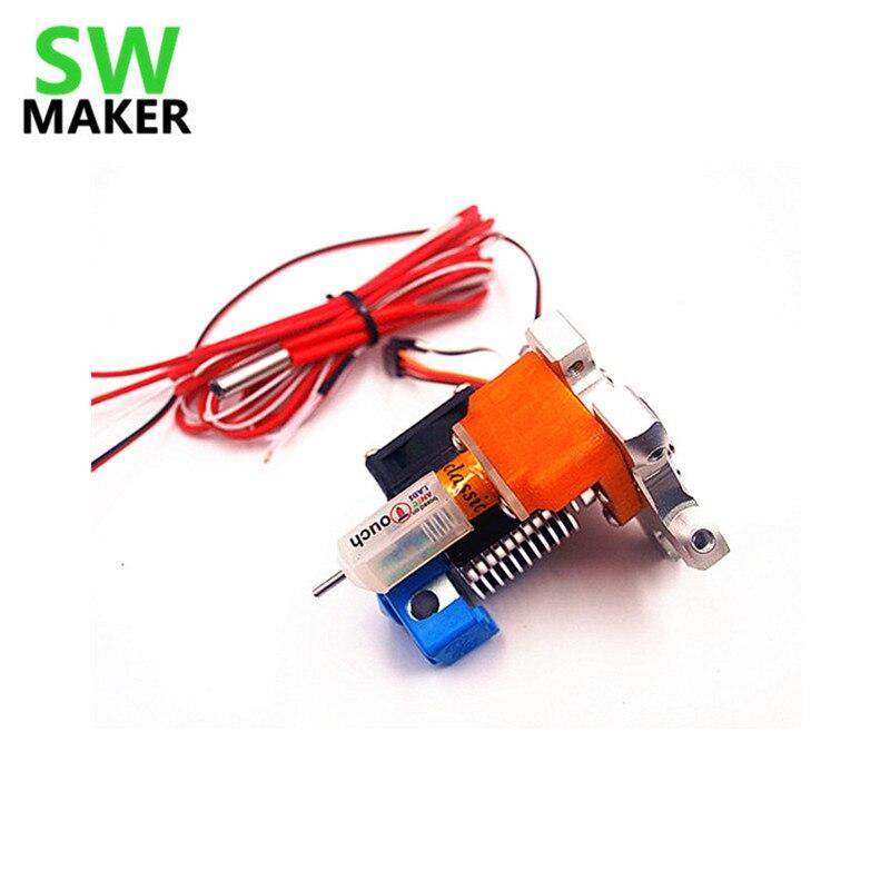 Swmaker delta kossel rostock impressora 3d m3/m4 rosqueado buraco effector hotend com tltouch cama auto nivelamento sensor de toque sonda