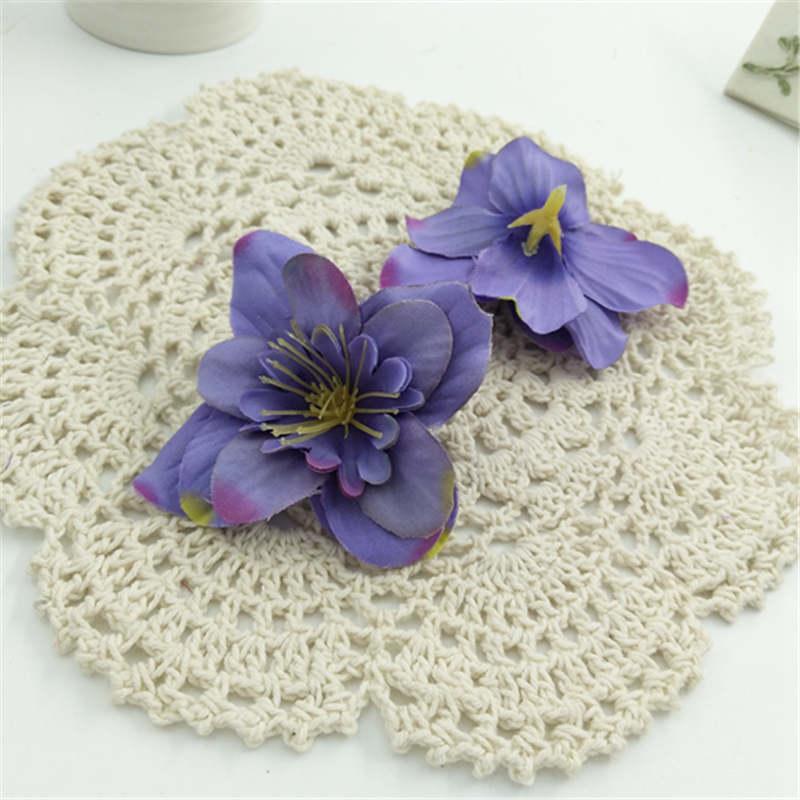 1pcs decoration artificial simulation small wild blue DIY silk flower head wedding home decoration high quality flowers