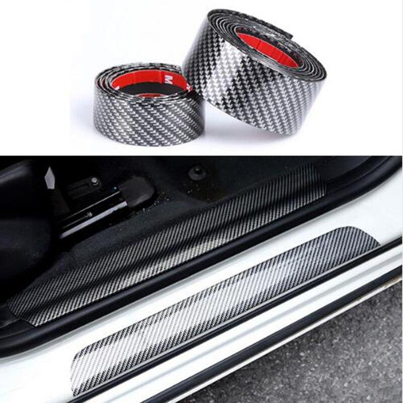 Резиновая Мягкая черная полоса для бампера из углеродного волокна защита порога