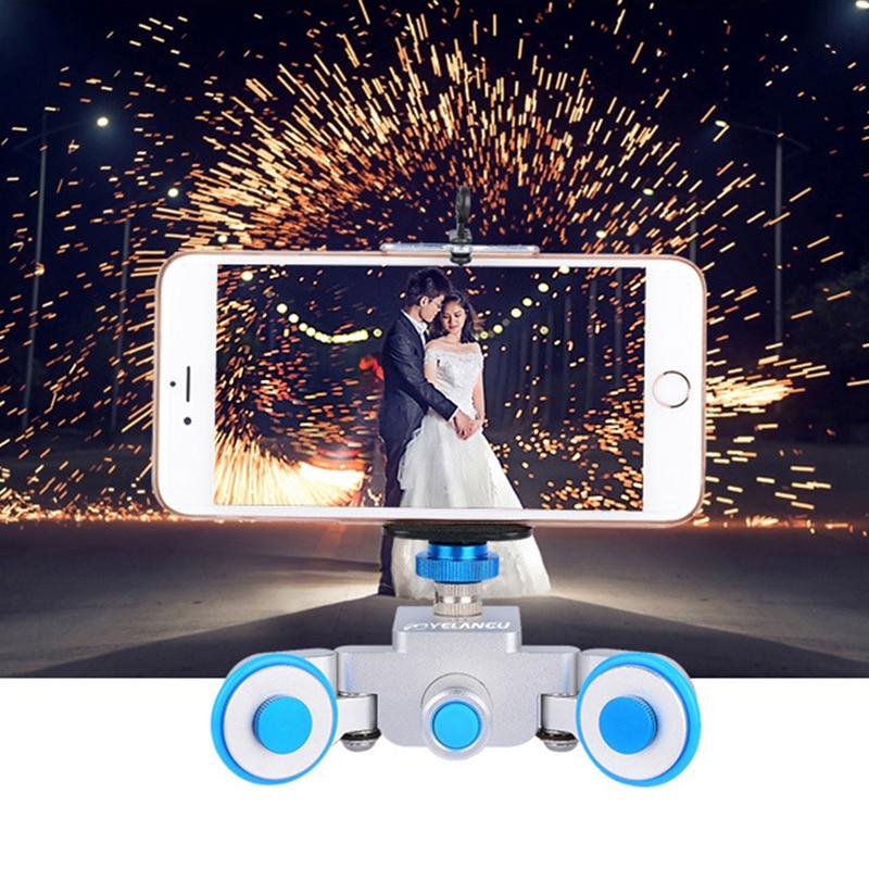YELANGU L3 cámara de vídeo dolly 3 ruedas para Nikon Canon cámara Sony dolly Motor deslizador eléctrico motorizado Dolly camión auto
