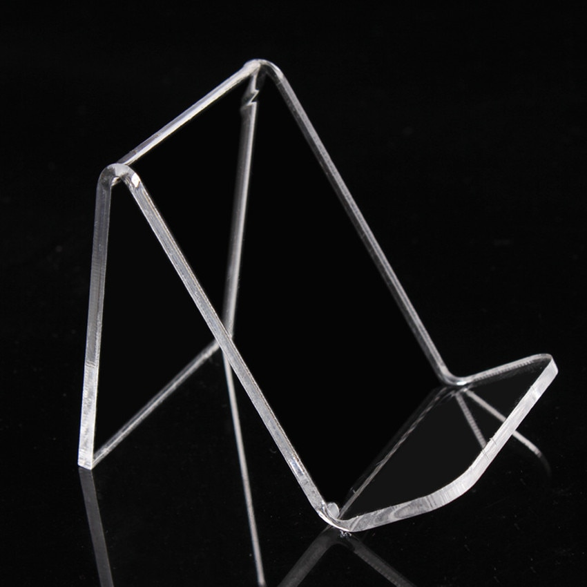 High Quality Acrylic T3mm Purse Wallet Bag Iphone Book Display Rack Holders Stand W55mm One Tier Guesset 25mm 1000pcs