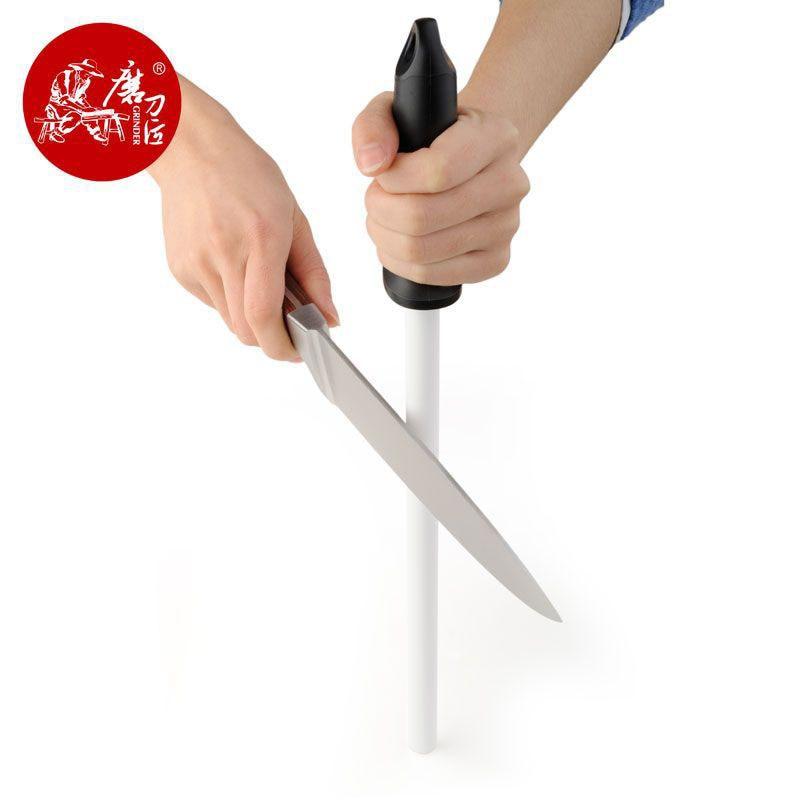 Taideas-مبراة سكاكين من الفولاذ والسيراميك ، أدوات احترافية ، 38 سنتيمتر ، قضيب شحذ ، T0843C