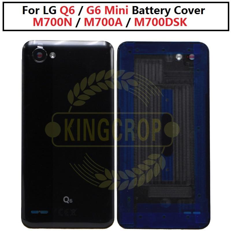 Para LG G6 MINI trasera carcasa de vidrio de la puerta de la cubierta de caso para LG Q6 con lente de cámara M700N M700A m700DSK