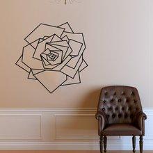 Rose Aufkleber Geometrie Blume PVC Wand Aufkleber Tapete Home Interior Dekoration Mädchen Zimmer Schönheit Salon Wand Dekor Tattoo G436