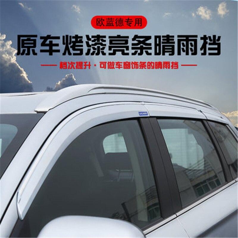 Pintura Original para coche, ventana para coche, protector contra la lluvia, cubierta de ABS, Visor solar para ventana para Mitsubishi Outlander 2013-2019, estilo para coche