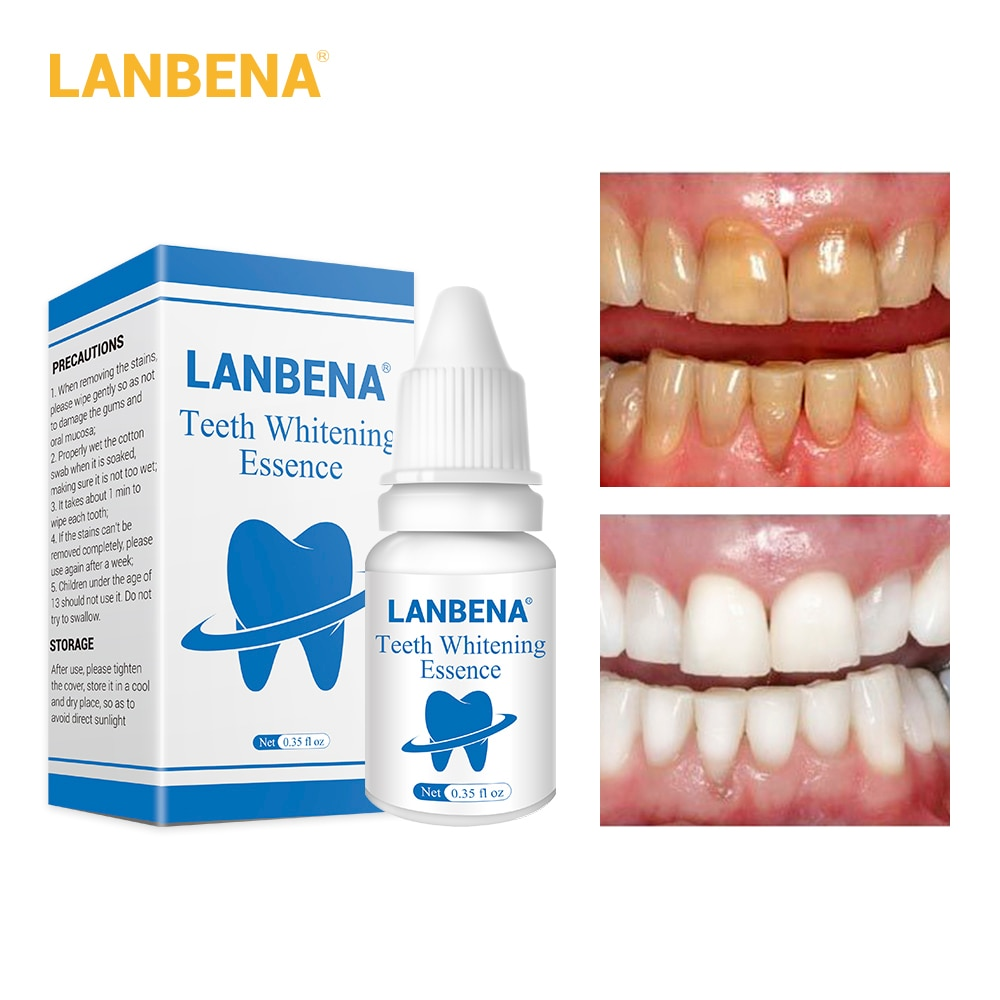 LANBENA Teeth Whitening Essence Powder gel Oral Hygiene Cleaning Teeth Care Serum Removes Plaque Sta