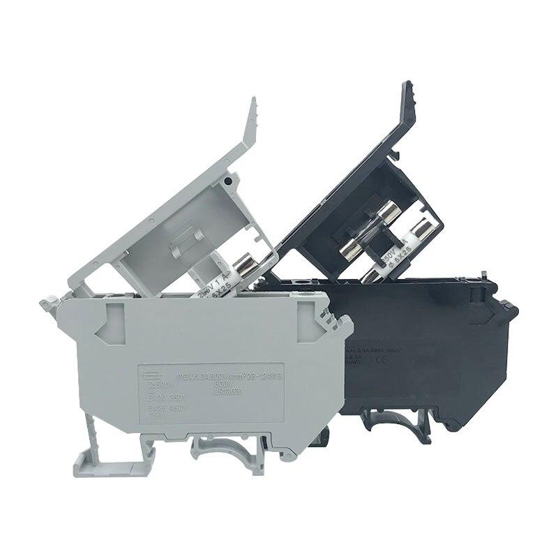 50PCS UK5-HESI UK5RD 4mm2 DIN Schiene Schraube Clamp Sicherung Halter Basis Terminal Blöcke Stecker UK Sicherung Zubehör