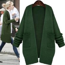 2020 Women Long Sleeve Knitted Sweater Autumn-Winter female cardigan Casual Long Woolen sweaters Jacket cardigans