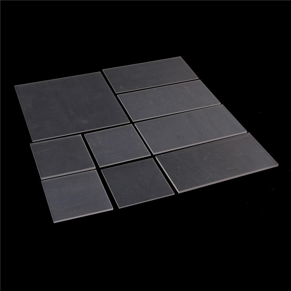 1 Uds 2-5mm Panel transparente Perspex espesor plástico claro hoja de acrílico de plexiglás Cut