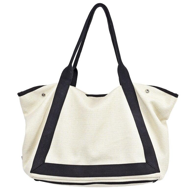 Oversize Cotton Top-handle Bag Women Casual Big Capacity Diaper Slouch Tote Bag Female Eco-friendly Fabric High Quality Handbag