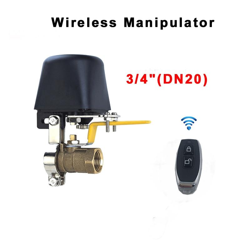 """3/4 """"Válvula Válvula de Água Controlador Sem Fio Inteligente Sistema de Automação Residencial Inteligente Para Gás Natural Leak Detector 12 V 1A manipulador"""