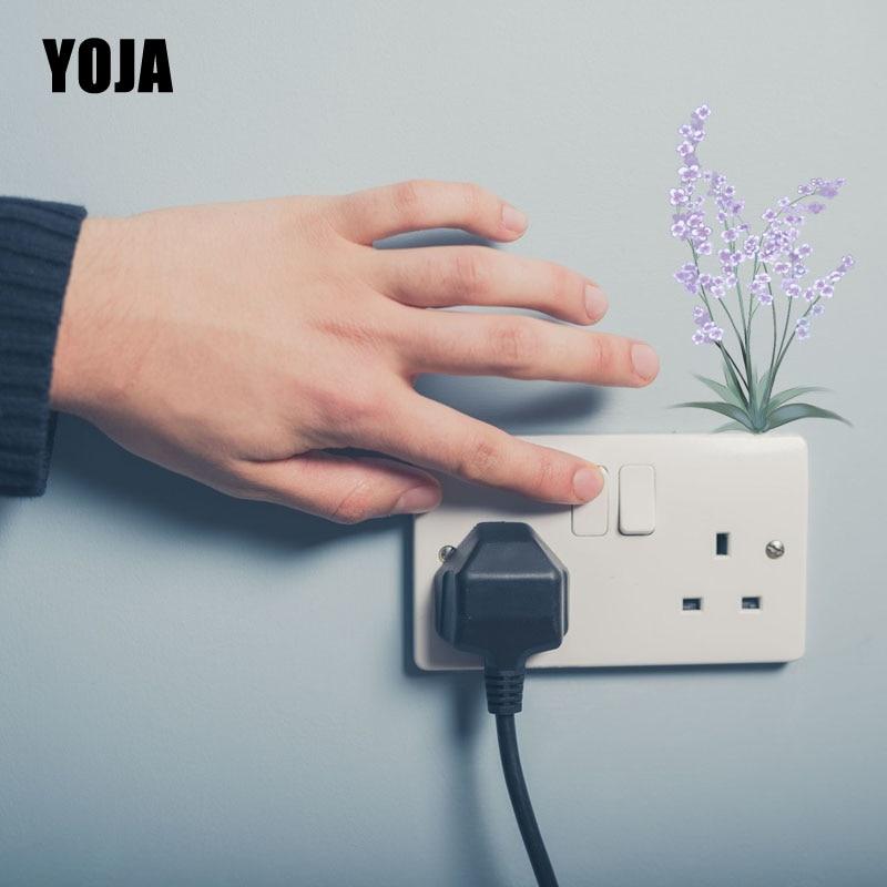YOJA Switch Sticker Little Cute Lavender Flower PVC Room Decorative European Style Wall Decal 15SS0025