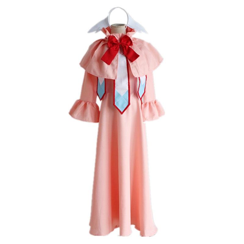 Brdwn Fairy Tail mujer Mavis Vermilion cosplay disfraz traje rosa