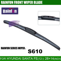 RAINFUN 26+14 inch dedicated car wiper blade for HYUNDAI SANTA FE(12-) dedicated windscreen wipernatural auto wiper