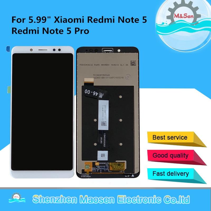 "Original M y Sen para 5,99 ""Xiaomi Redmi Note 5 Redmi Note 5 Pro pantalla LCD pantalla + Digitalizador de pantalla táctil para Redmi Nota 5 pantalla"