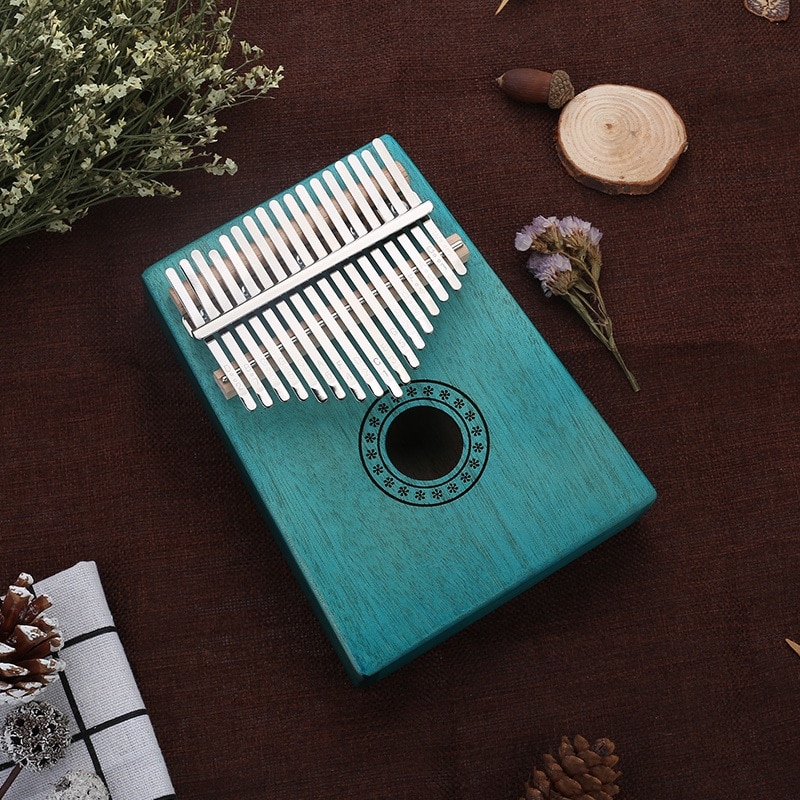 17 Keys Kalimba Wood Mahogany Body Thumb Piano Musical Instrument Accessories Colors enlarge