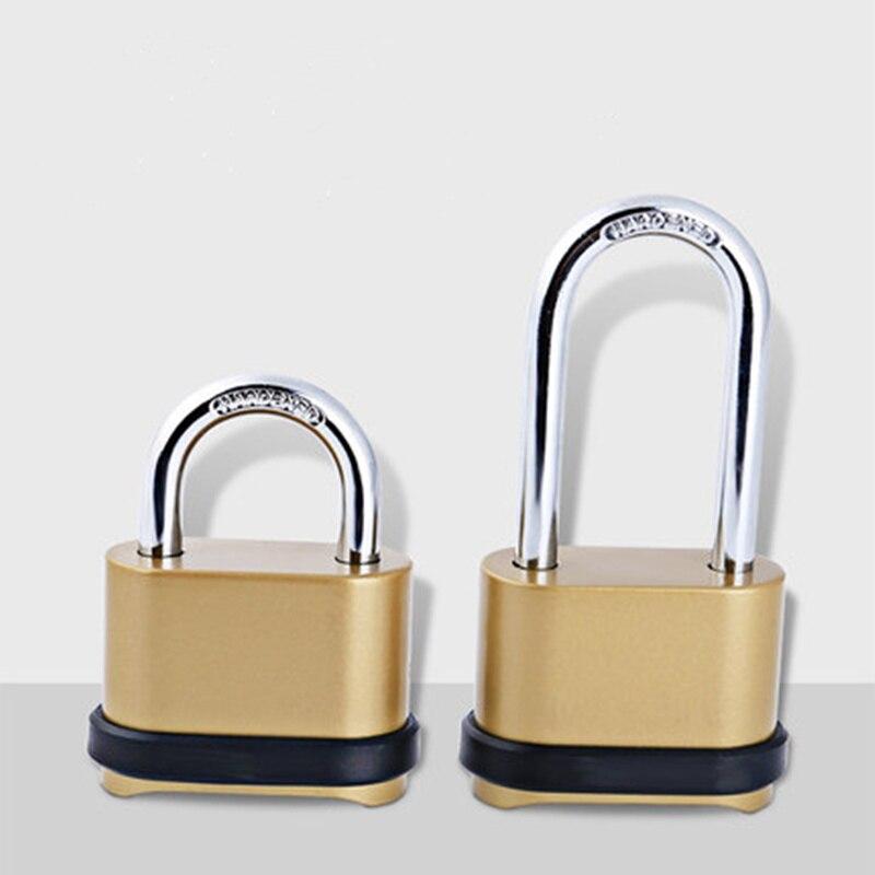 De Oro de moda bloqueo de contraseña inferior ocultar rearmables código de 4 dígitos candado de seguridad de bloqueo para equipaje de seguridad antirrobo de Hardware
