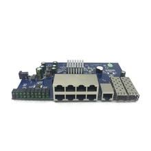 Module de commutation en Ethernet, Module de stockage IP 8 ports 10/100/1000 Mbps, commutateur Gigabit avec 2 fentes SFP