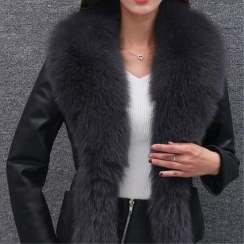 معطف فرو عالي الجودة فاخر من الثعلب الصناعي معطف نسائي دافئ سترات شتوية عصرية معاطف نسائية جواكيت جيليه فيست 3XL