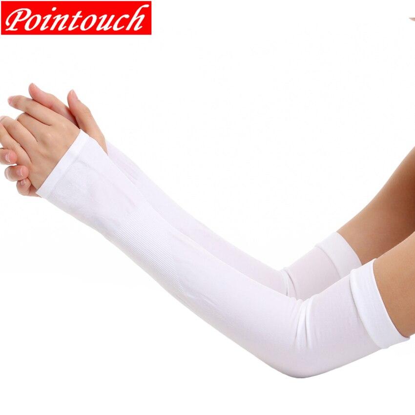 Manguitos de brazo para correr, guantes largos resistentes al sol de seda fría, protectores de brazo sólidos para baloncesto, guantes deportivos para conducir en bicicleta, calentadores de brazo