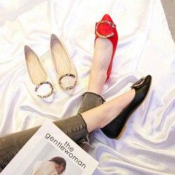 2019 Primavera Flats para Mulheres Sapatos Casuais Slip-on Sapatos de Barco Mulher Senhoras Do Escritório de Moda Sapatos Preto Branco Vermelho plus Size 42 TB028