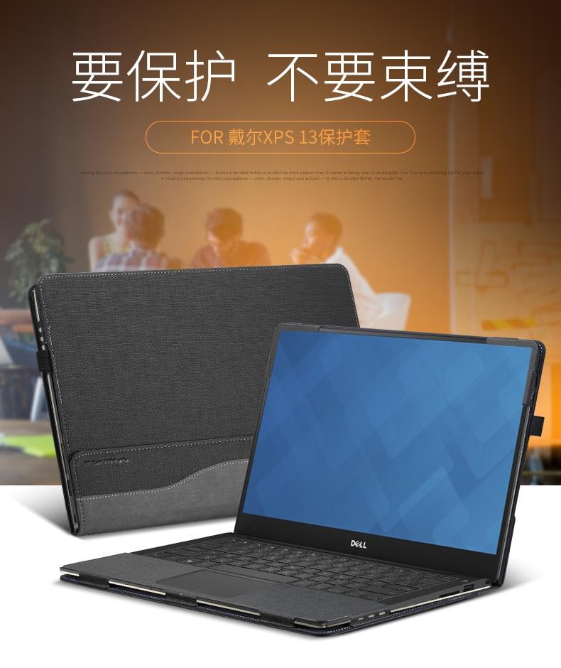 Caso Per Dell XPS 13 9380/9370/9360/9350/9365/9343 modelli di DELLUNITÀ di elaborazione In Foglio di Cuoio del basamento di Protezione Della Copertura Del Computer Portatile Per Dell XPS 13.3 Pollici