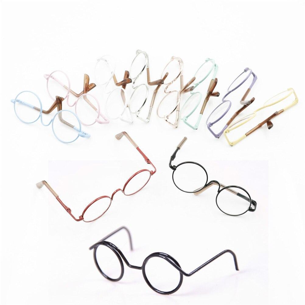 Gafas redondas de moda para 1/6 muñecas BJD gafas de bricolaje para muñecas de 18 pulgadas juguetes niñas regalo de Navidad para niños niñas Juguetes