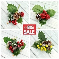 1 piece artificial flower red berry branch suitable for wedding christmas decoration diy valentines day dried flowers