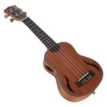 Abgz-irin Soprano ukulélé 21 pouces noyer bois guitare acoustique Ukelele acajou touche cou Hawaii 4 cordes Guitarra
