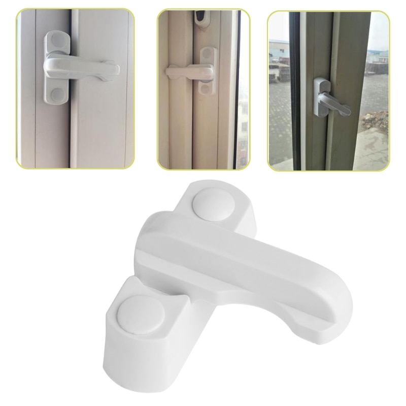 Plástico + acero inoxidable + aleación de Zinc UPVC seguridad infantil ventana puerta Sash bloqueo palanca de seguridad manija de barrido pestillo