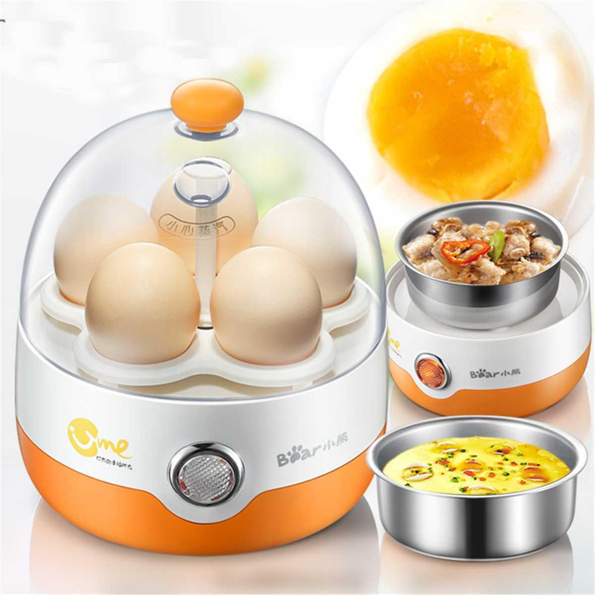 Hervidor eléctrico multifuncional de 5 huevos cocina de acero inoxidable Teel potencia automática Mini vaporizador escalfador cocina herramienta de cocina 200W