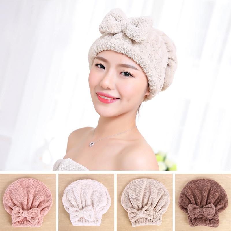 Aprince Trockenes Haar Kappe Verdickung Korean Erwachsene Nette Bogen Dusche Kappe Shampoo Haar Schnell Trockenen Handtuch Saugfähigen Trockenes Haar Handtuch