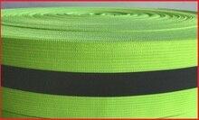 4cm reflective elastic ribbon reflective vest material safety warning tape garment accessoriesbelt