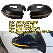 Clignotant séquentiel LED lumière dynamique pour VW Golf MK6 /Golf G-TI 6 pour Touran 2011 à 2015 pour R20 rétroviseur latéral clignotant