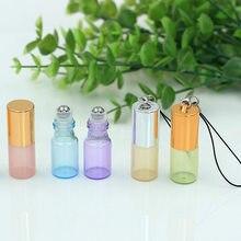 3 ml rouler sur des bouteilles avec crochet huile essentielle dans la bouteille de parfum de Frangrance de boule de verre rechargeable