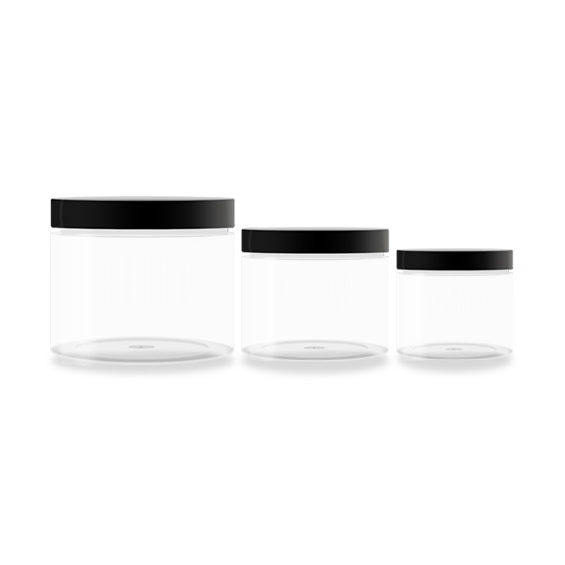 Envase de 50 Uds. De tarro de crema transparente 1oz 2oz 4oz para alimentos, lata de té, recipiente para envasado de cosméticos