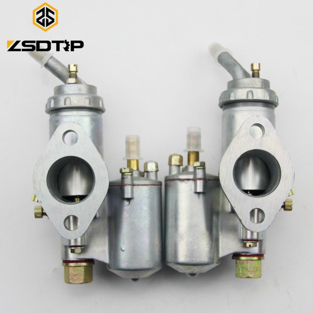 Carburador de motor de motocicleta ZSDTRP Twin Cyclinder KC750 PZ28, carcasa carburadora para BMW R50 R60 R12 KC750 R1 R71 M72 MW 750